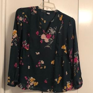 Old Navy long sleeve green top